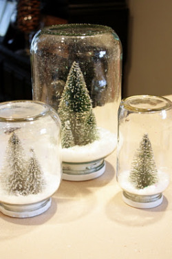 craftdiscoveries:  (via Sweet Something Designs: Waterless Snow Globes)