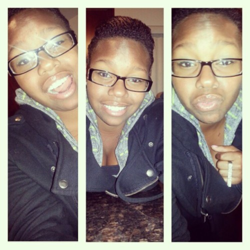 Triple me :) #PearlyWhites #AlmondEyes (Taken with Instagram)