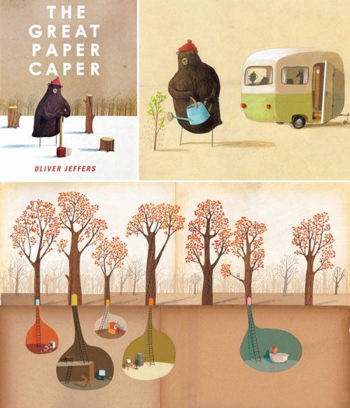 kern101:  The Great Paper Caper, written and illustrated by Oliver Jeffers.