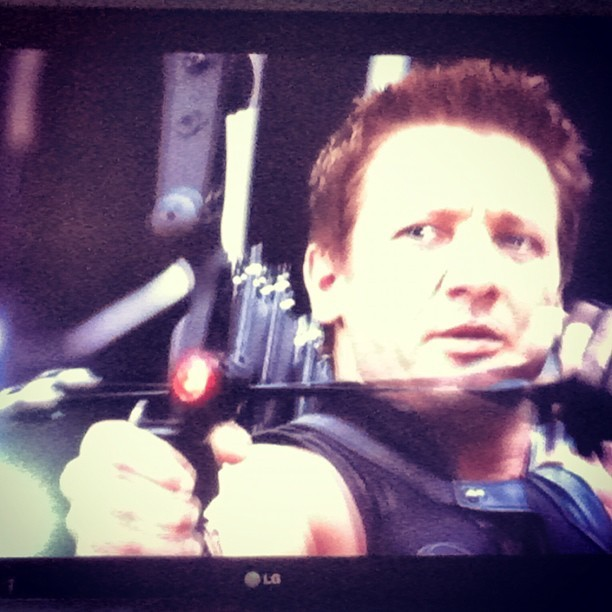 Watching #theavengers again, drunk = win (Taken with Instagram)