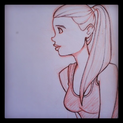 #sketch #practice #warmup (Taken with Instagram)
