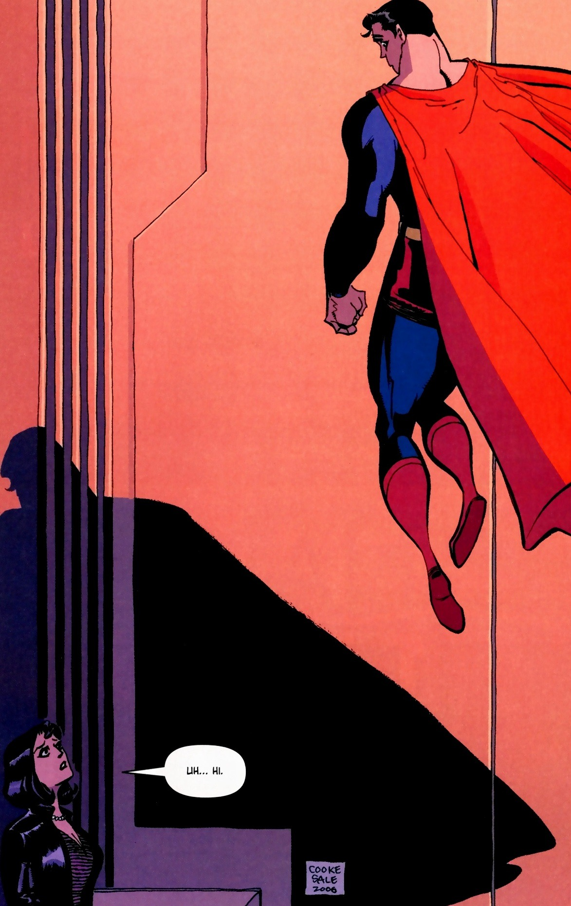 "From Superman Confidential #2 (aka ""Kryptonite - Book Two"") by Cooke/Sale."