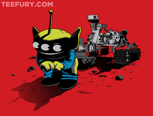 "TeeFury: ""First Image of Mars"" by Adams Rebouças Pinto."