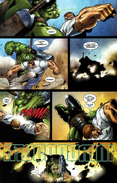 towritecomicsonherarms:  Rude  The X-Men tie-in for World War Hulk was so badass. Hulk wiped the floor with mutant kind.