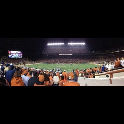 #Texas #longhorns #football  #panorama #nofilter  (Taken with Instagram at Darrell K Royal Texas Memorial Stadium)