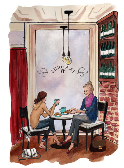 aplaceforart:  cafe time, by inslee