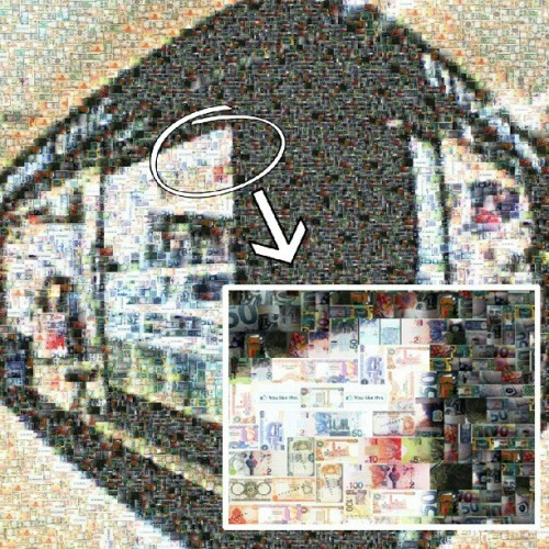 #mosaic picture of my shop…#diy #money #dollars  (Taken with Instagram)