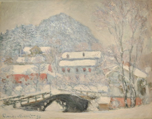 Claude Monet    Village de Sandviken sous la neige,  1895