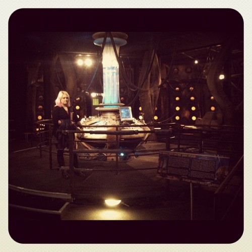 The Ninth and Tenth Doctor's TARDIS console set (Taken with Instagram)
