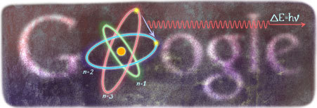 127th birthday of Niels Bohr. (via Google)