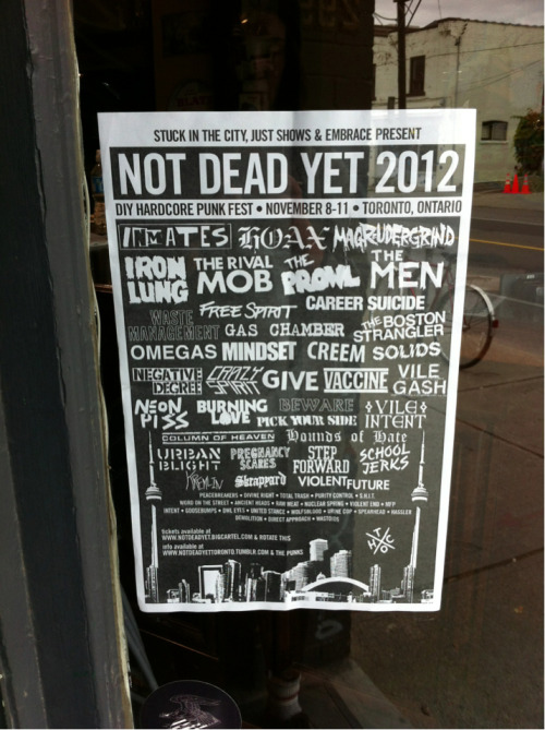 blackrats:  you'd be a fool not to be in Toronto for this.  i'm gonna be dead after this