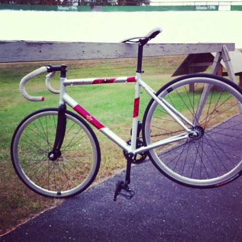 My ride for the day. #velodrome #fixed (Taken with Instagram at Velodrome)
