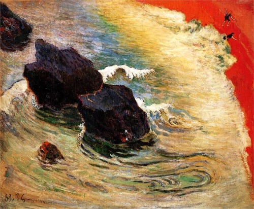 bofransson:  The wave, 1888 Paul Gauguin