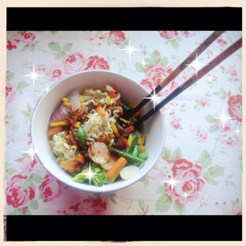 Yummy in my tummy~🍜✨ #noodles #ramen #wok #yummy  (Taken with Instagram at My Princesscastle~)
