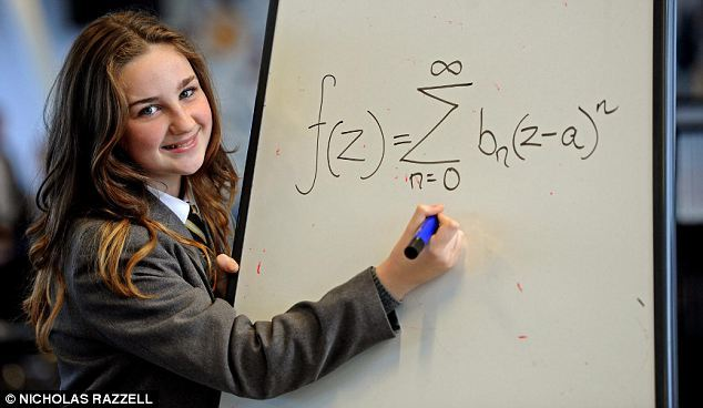 A 12-year-old schoolgirl has been accepted into Mensa after discovering she is brainier than both Albert Einstein and Stephen Hawking. Olivia Manning, from Liverpool, managed to get a whopping score in an IQ test of 162 - well above the 100 average. Her score is not only two points better than genius German physicist Einstein and Professor Stephen Hawking, but puts her in the top one per cent of intelligent people in the world.