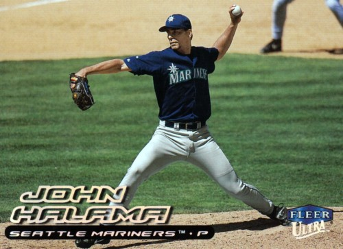 Random Baseball Card #1841: John Halama, pitcher, Seattle Mariners, 2000, Fleer.