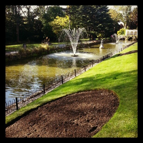Tropical world, Leeds. #Yorkshire #fountain #landscape (Taken with Instagram at Tropical World)
