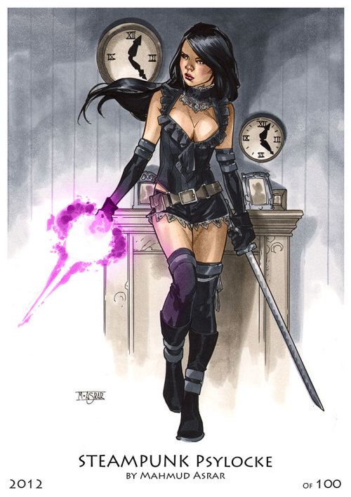 Steampunk Psylocke PrintThis is one of two prints that I'll have at NYCC 2012. It'll be signed and numbered and limited to a 100 copies.