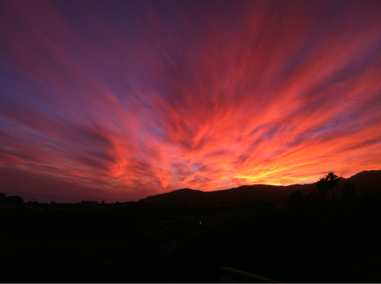Last night's sunset in Pacific Palisades.