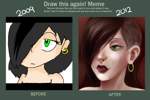 paperjamtavros:  ilikerhinestones:  kubbypan:  then and now  well  i see someone sold their soul to satan
