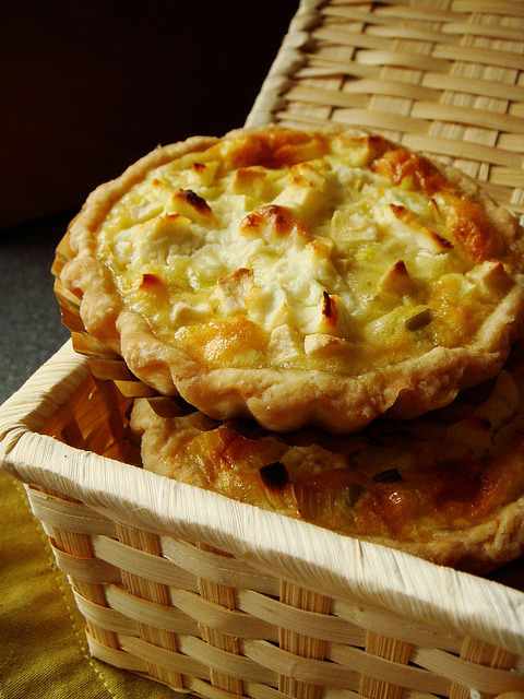 Apple Leek Goat Cheese Quiche by ComeUndone on Flickr.