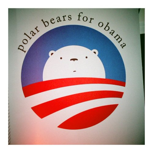 Polar bears for Obama poster.