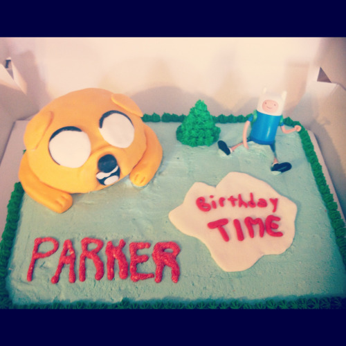 Adventure time birthday cake.. Kids cakes are always the most fun to make!