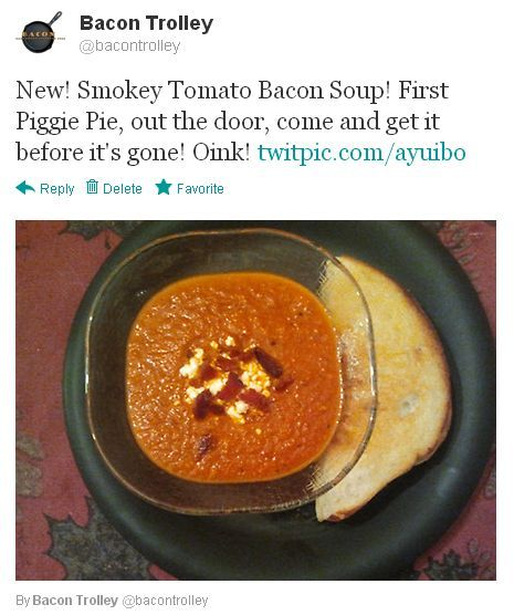 NEW —- Smokey Tomato Bacon Soup! Yum! Yum! Yum!