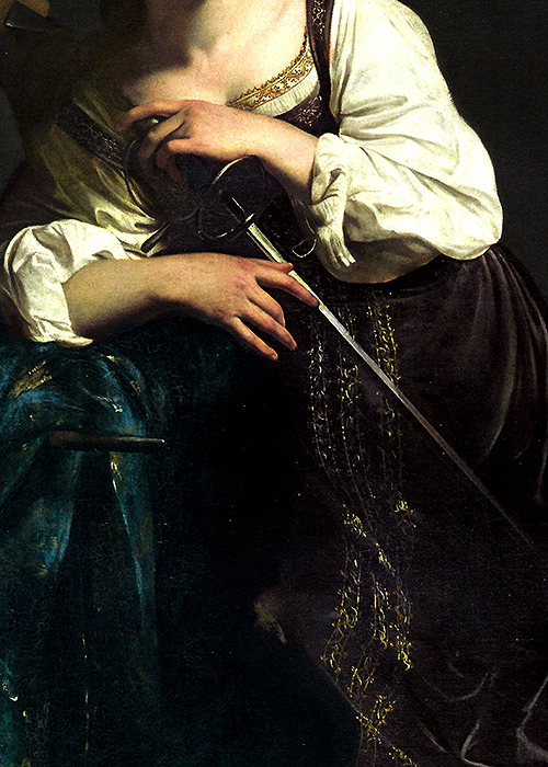 wycherley:  Caravaggio, Saint Catherine of Alexandria (detail), 1598