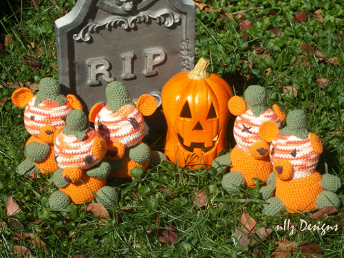 Here's a cute pumpkin patch, nice and cuddly too