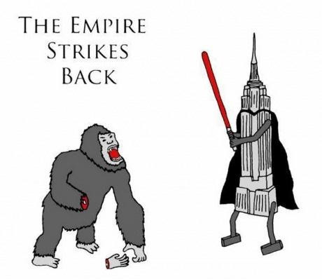 "no really. ""the empire"" strikes back."