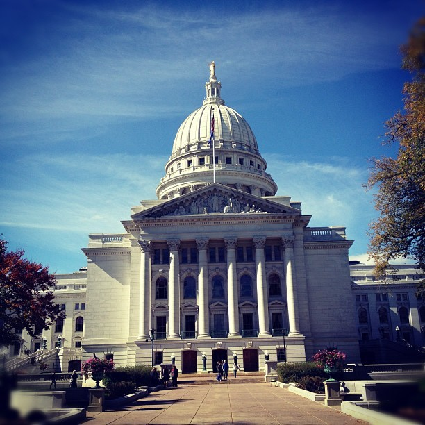 Hey look, the State Capitol  #madison (Taken with Instagram at Wisconsin State Capitol)