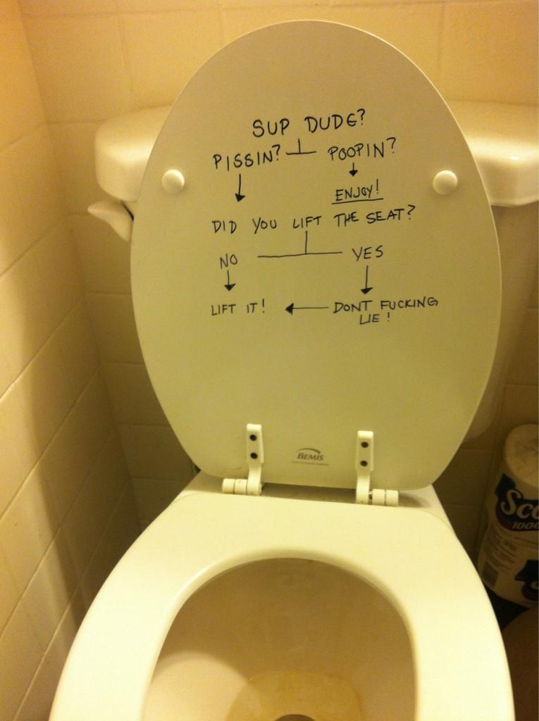 Lol. My friends' disgusting toilet is famous.