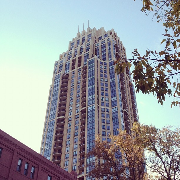 The Carlyle #minnesota #minneapolis #skyline #downtown #fall #trees #leaves  (Taken with Instagram at The Carlyle Condominium)