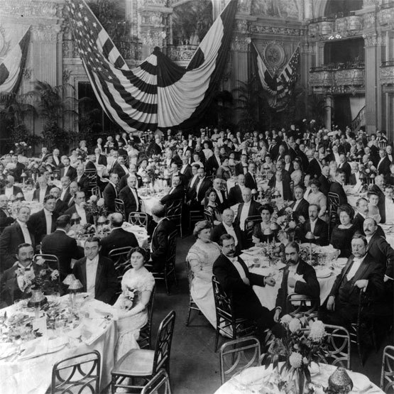 Lennox Hill Hospital's first annual dinner in the original Waldorf Astoria.