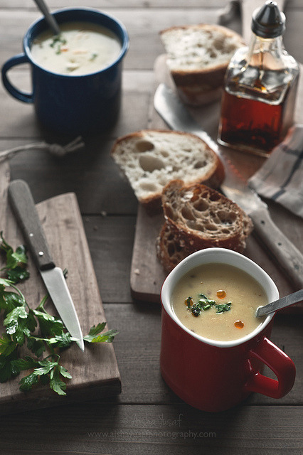 elorablue:  Soup.. by aisha.yusaf on Flickr.
