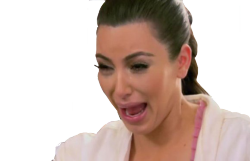 a transparent crying kim kardashian for your enjoyment