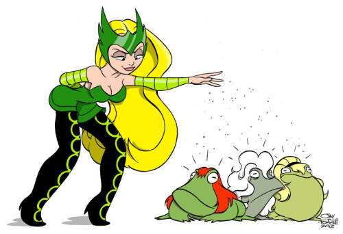 ENCHANTRESS VS PETER PARKER'S LADIES by *Fourpanelhero