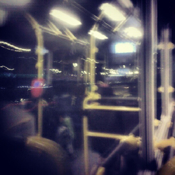 #instatravel #bus #night #UAE  (Taken with Instagram at Traffic on Al Ittihad Road)