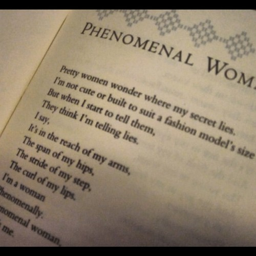 Phenomenal woman… that's me.  (Taken with Instagram)