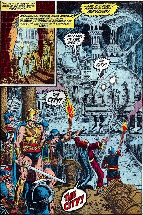 Must be a member of THE CITY Chamber of Commerce. From Kull the Conqueror # 6, 1972 art by Marie & John Severin.