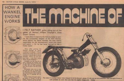 Vintage Bike Magazine/Motor Cycle News 1974 June