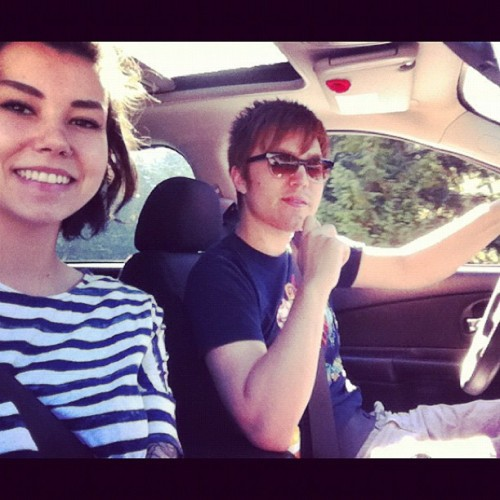 My chauffeur lololol just kidding #me #love #james (Taken with Instagram)