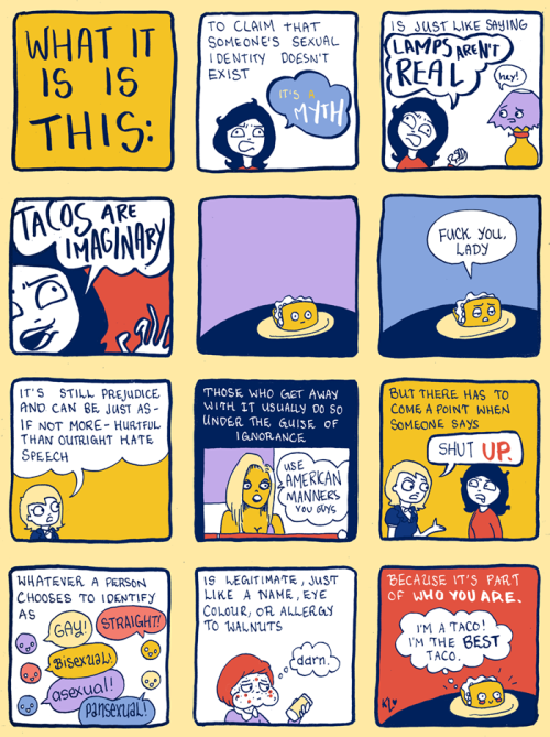 "LGBTQ* Comic and Graphic Illustrations You May Have Missed from: Kate or Die ""BYE Phobias"""