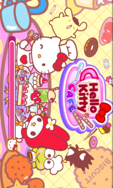 "the-pink-princess-x:  ~_ Enjoying the ""Hello Kitty Café"" app' *o* <3 _~"