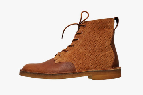 Swedish label Velour collaborates with Clarks on the desert mali boot.
