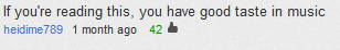 haha no i don't, comment on a blink-182 music video