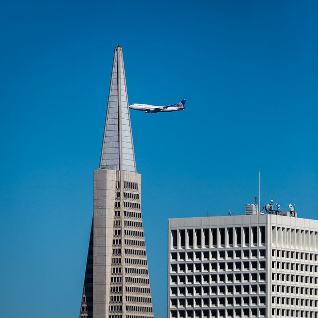 United 747 during San Francisco's Fleet Week on Flickr.Via Flickr: United 747 during San Francisco's Fleet Week. Sunday October 2012. I think I got the timing just right!  *Please note, it did not hit the building. [Website] [facebook] [Google+] [Tumblr] [Twitter]