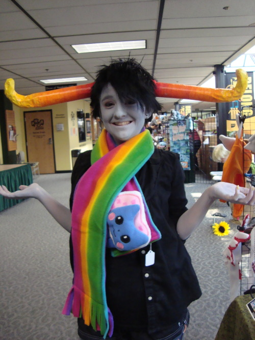 "uHHH"""" wOW SO i GUESS COSPLAY IS PRETTY FUN? Tavros Cosplayer —-> http://ascendingalto.tumblr.com/~~~~~~~~~~~~~~~~~~~~~~~~~~~~~ Hey, just a photoset of me cosplaying as my favorite boy Tavros for Senshi Con in Alaska! It was a ton of fun and I just decided well it's Tumblr why not a photoset?"