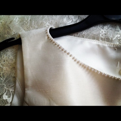 Pearl hand beading  (Taken with Instagram)